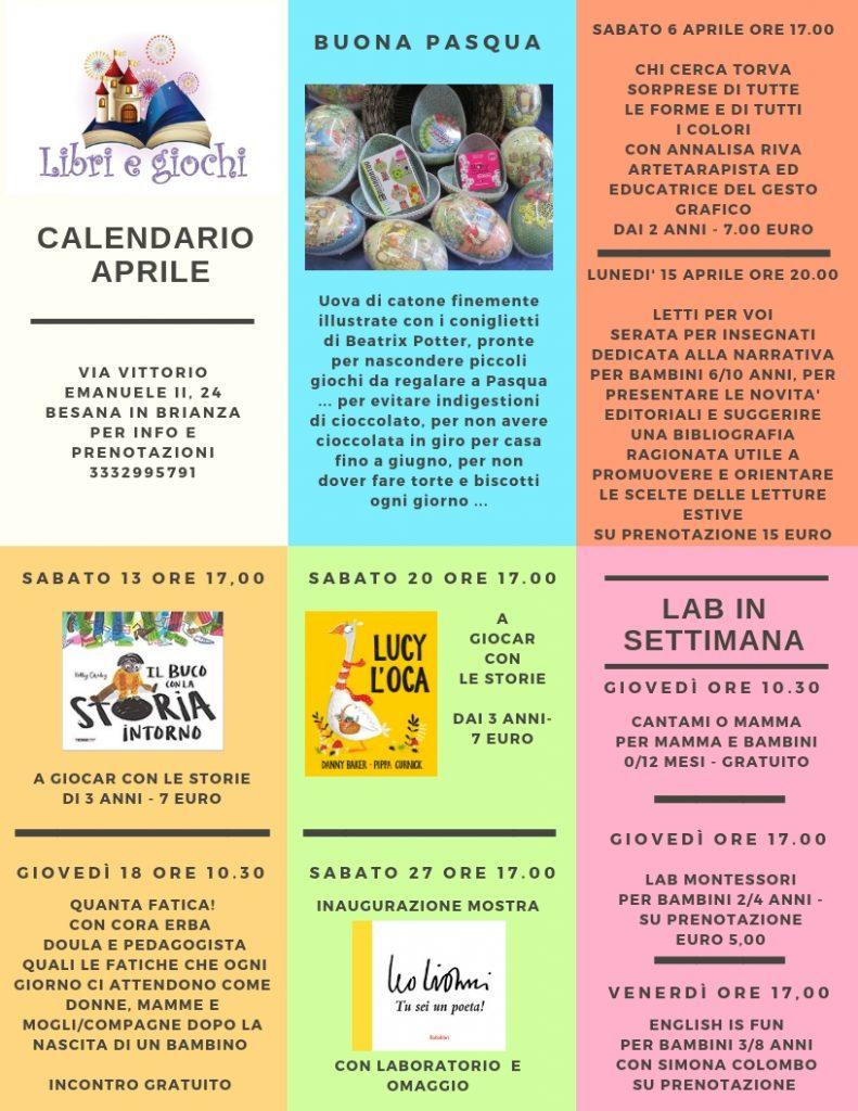 Cerca Calendario.Calendario Eventi E Laboratori Aprile 2019 Libri E Giochi