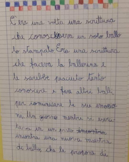 """Mattia e la scrittura """"ballerina"""""""