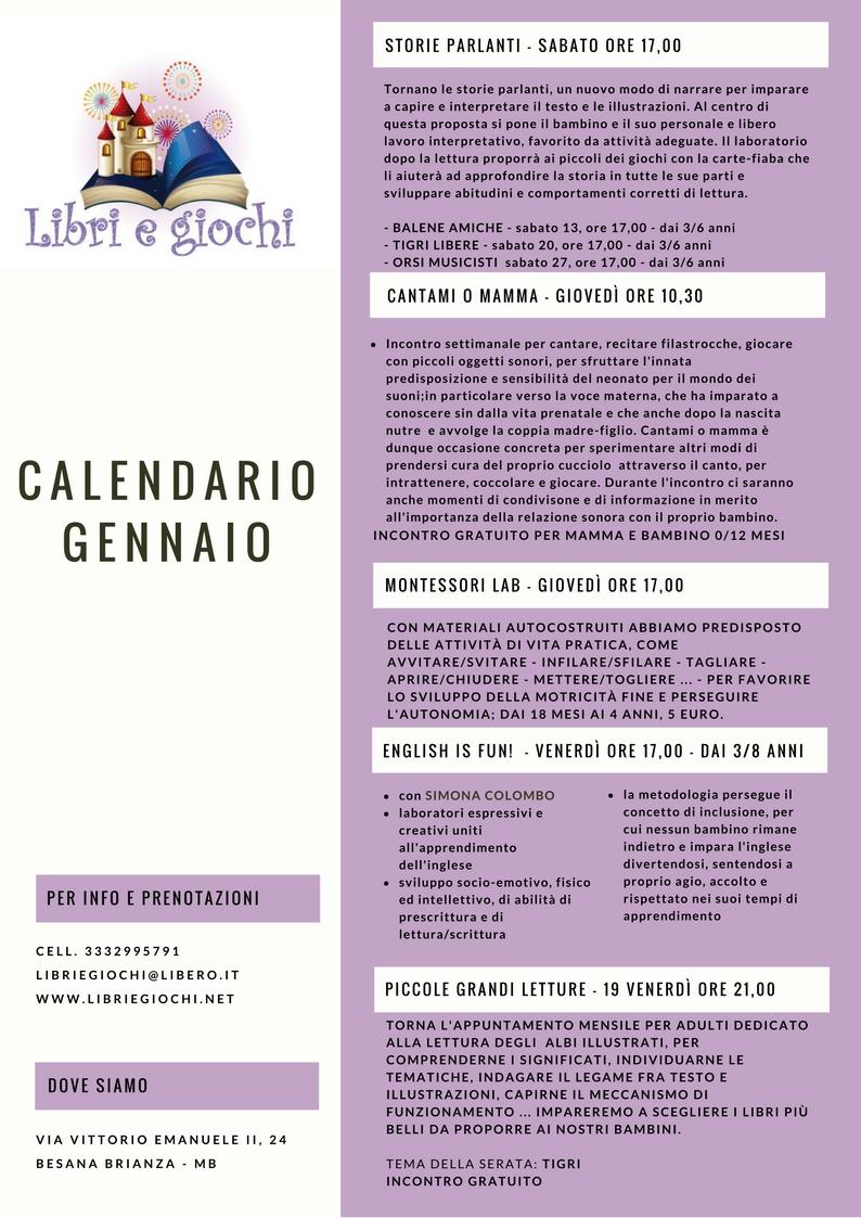 Calendario Fisico.Calendario Gennaio 2018 Libri E Giochi