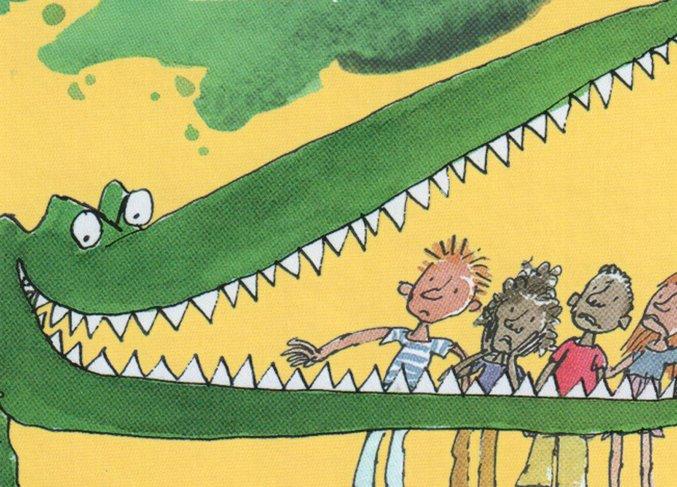 un coccodrillo tra le pagine