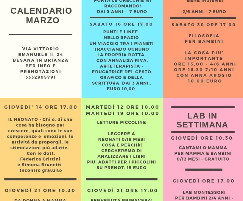 CALENDARIO EVENTI MARZO 2019